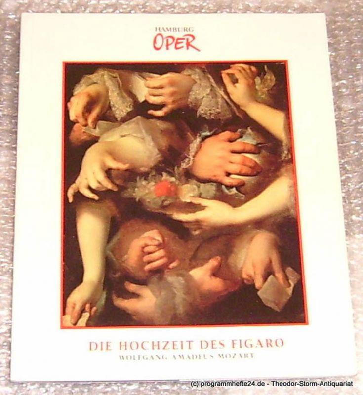 Hamburgische Staatsoper, Willaschek Wolfgang, Cordes Annedore Programmheft zur Premiere Die Hochzeit des Figaro von Wolfgang Amadeus Mozart am 18. November 1990