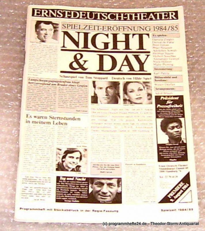 Ernst-Deutsch-Theater Hamburg, Direktion Friedrich Schütter, Wolfgang Borchert Programmheft Night and Day. Schauspiel von Tom Stoppard. Premiere 9. August 1984 Mit Stückabdruck in der Regiefassung Spielzeit 1984/85