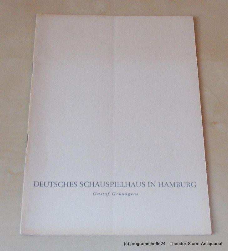 Gründgens Gustaf, Oelschlegel Gerd, Penzoldt Günther, Wilken Rolf Staub auf dem Paradies. Mittwoch, 11. Dezember 1957 Programmheft 4. Deutsches Schauspielhaus in Hamburg 1957/58