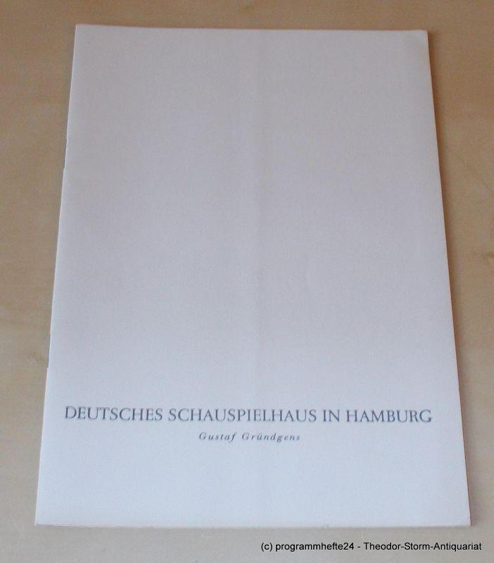 Gründgens Gustaf, Kaiser Georg, Penzoldt Günther, Wilken Rolf David und Goliath. Mittwoche, 9. Spetember 1959 Programmheft 2. Deutsches Schauspielhaus in Hamburg 1959/60