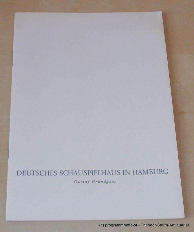 Gründgens Gustaf, Lessing Gotthold Ephraim, Penzoldt Günther, Wilken Rolf Minna von Barnhelm. Ein Lustspiel in 5 Aufzügen. Dienstag, 25. April 1961 Programmheft. Deutsches Schauspielhaus in Hamburg 1960/61