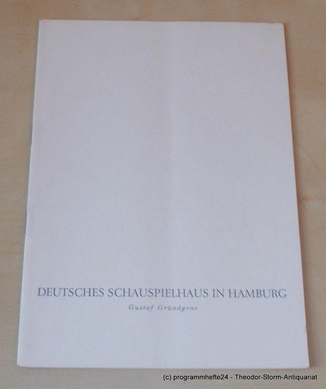 Gründgens Gustaf, O'Neill Eugene, Penzoldt Günther, Wilken Rolf Fast ein Poet. Mittwoch, 10. Dezember 1958. Programmheft 6. Deutsches Schauspielhaus in Hamburg 1958/59