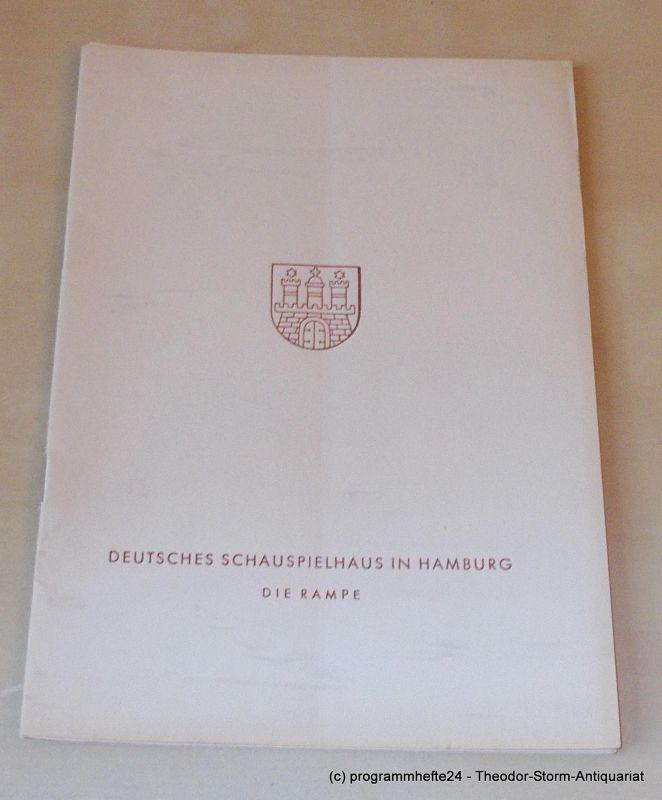 Gründgens Gustaf, Shakespeare William, Schlegel Wilhelm von, Lindtberg Leopold, Penzoldt Günther, Wilken Rolf König Heinrich IV. Tragödie. Mittwoch, 14. März 1956 Programmheft 10. Die Rampe. Deutsches Schauspielhaus in Hamburg 1955/56