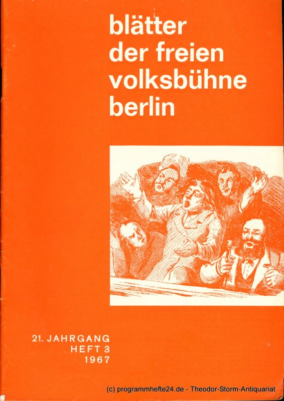 Schulz Günter Blätter der freien Volksbühne Berlin. 21. Jahrgang Heft 3 1967