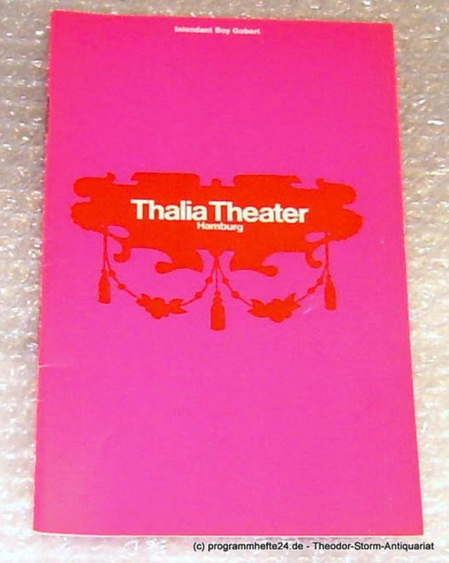 Thalia Theater Hamburg, Intendant Boy Gobert Programmheft Amphitryon. Komödie von Peter Hacks. Spielzeit 1969/70 Heft 4