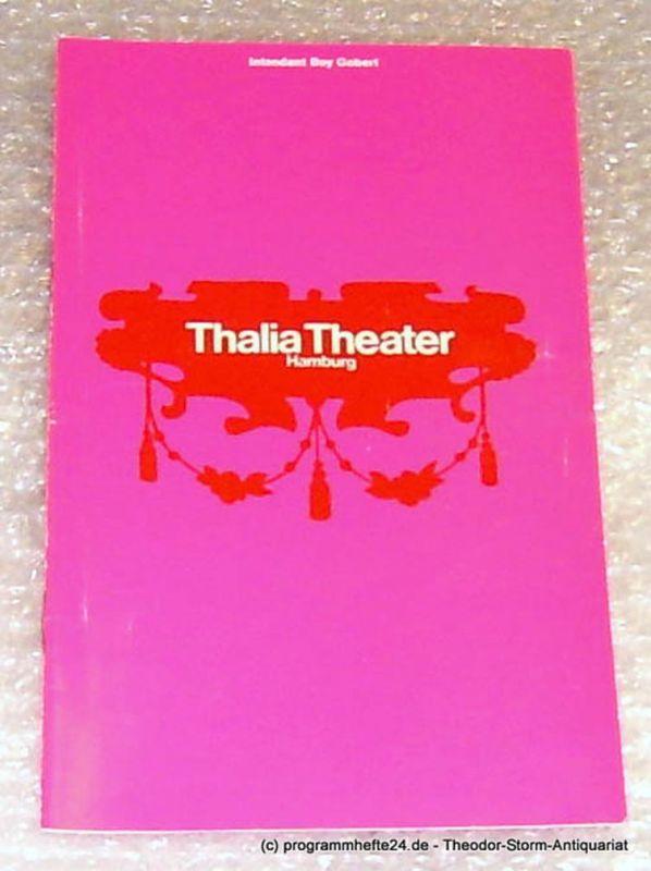 Thalia Theater Hamburg, Intendant Boy Gobert Programmheft Viel Lärm um Nichts. Lustspiel von William Shakespeare. Spielzeit 1969/70 Heft 6