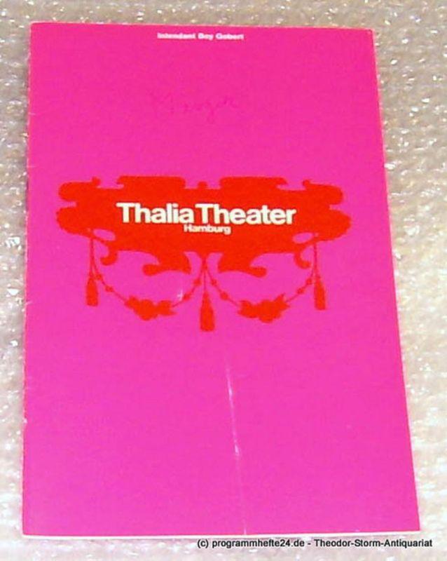 Thalia Theater Hamburg, Intendant Boy Gobert Programmheft Watzlaff oder Alles Theater von Slawomir Mrozek. Deutsche Erstaufführung. Spielzeit 1969/70 Heft 11