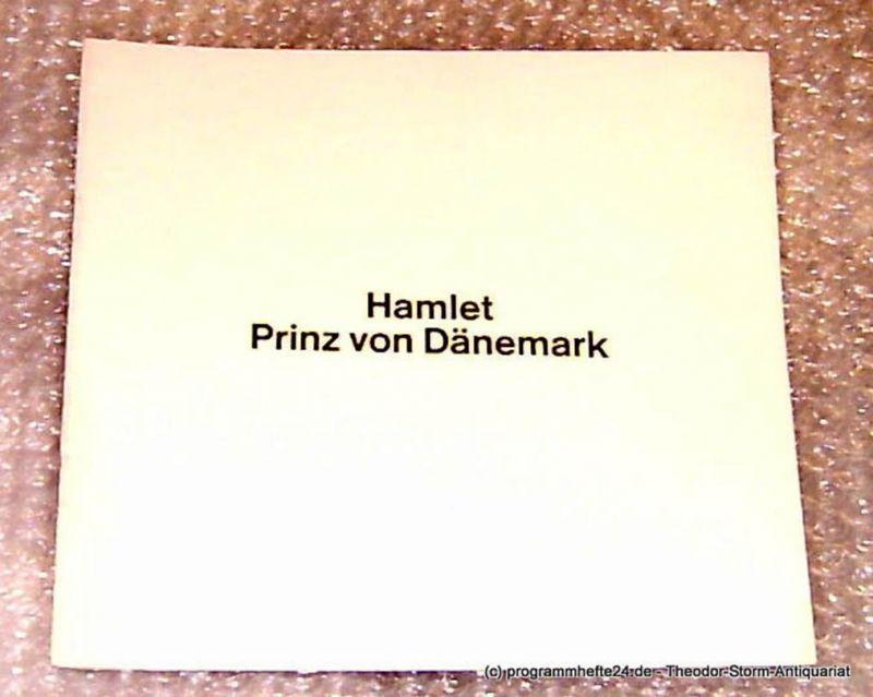 Thalia Theater Hamburg, Intendant Boy Gobert Hamlet Prinz von Dänemark von William Shakespeare. Programmheft Spielzeit 1977/78
