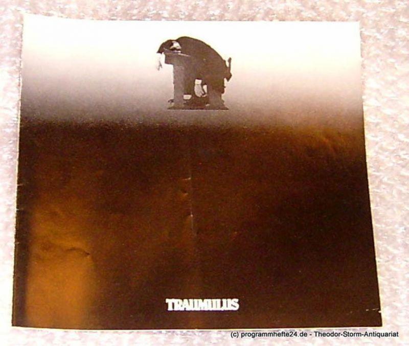 Thalia Theater Hamburg, Intendant Boy Gobert Traumulus. Tragische Komödie von Arno Holz und Oskar Jerschke. Programmheft Spielzeit 1979/80