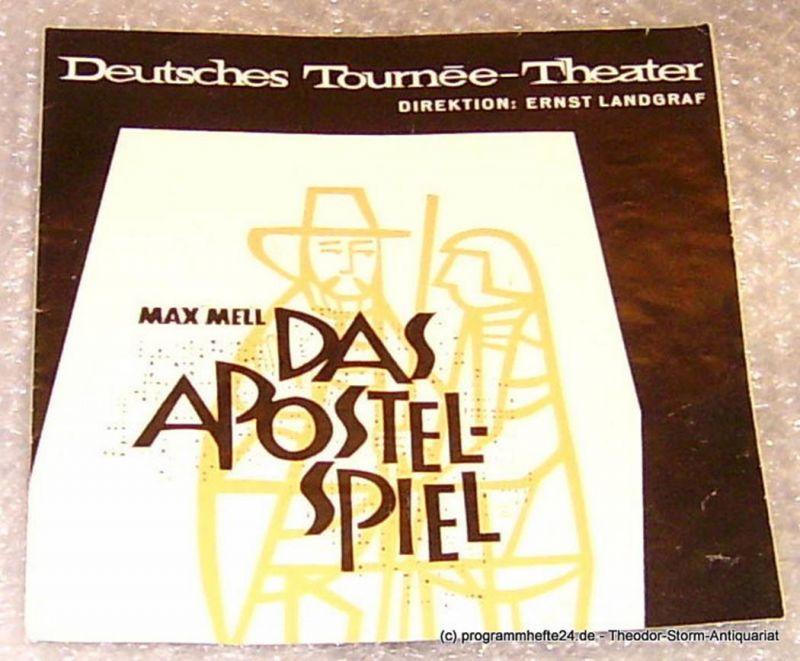 Euro-Studio Ernst Landgraf Das Apostel-Spiel. Von Max Mell. Programmheft