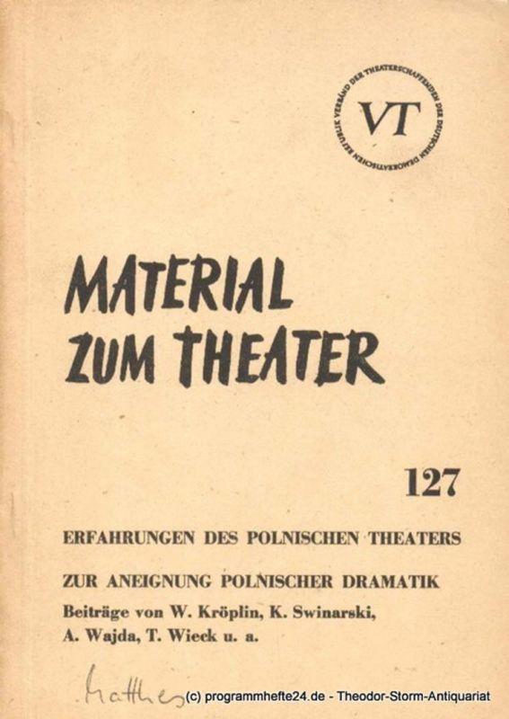 John Hans-Rainer Material zum Theater Nummer 127 Reihe Schauspiel Heft 36