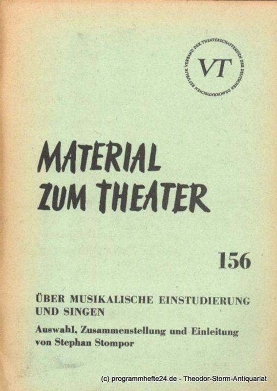 John Hans-Rainer Material zum Theater Nummer 156 Reihe Musiktheater Heft 30
