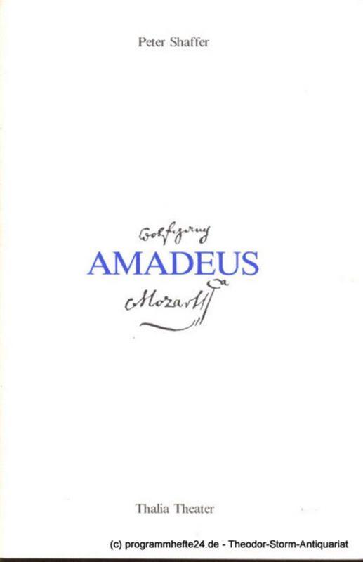 Thalia Theater, Striebeck Peter Programmheft Amadeus von Peter Shaffer. Premiere am 17. Oktober 1981 Spielzeit 1981/82