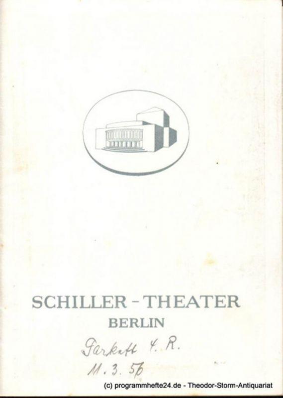 Schiller-Theater Berlin, Barlog Boleslaw, Beßler Albert Programmheft Dame Kobold. Lustspiel in drei Aufzügen von Calderon. 1955/56 Heft 54