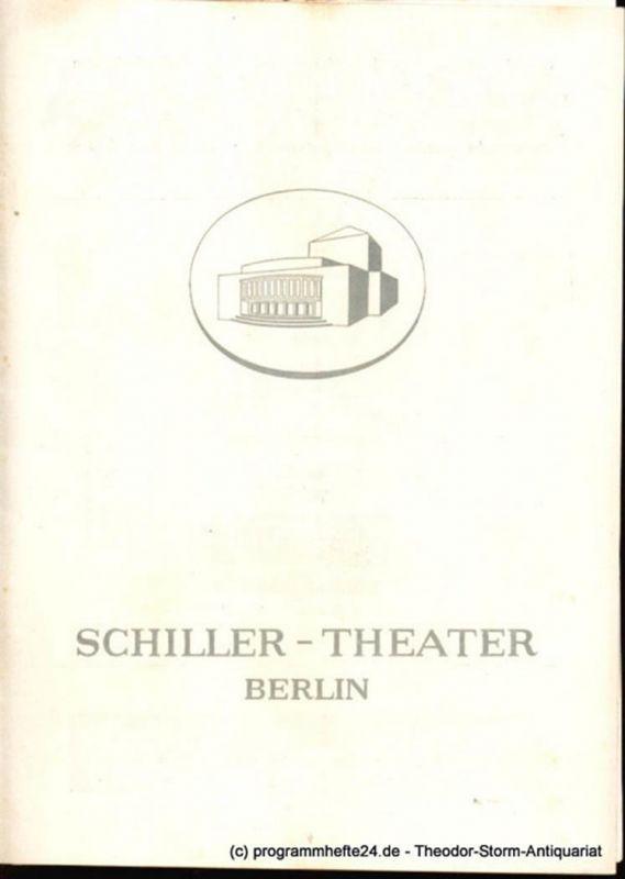 Schiller-Theater Berlin, Barlog Boleslaw, Beßler Albert Programmheft Der Arzt am Scheideweg. Komödie in fünf Akten von Bernard Shaw 1958-59 Heft 70