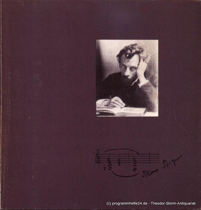 Hamburgische Staatsoper, Christoph von Dohnanyi, Dannenberg Peter Programmheft zur Premiere Palestrina am 18. November 1979