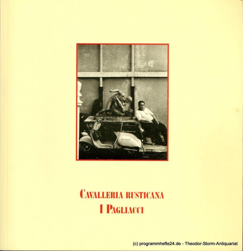Hamburgische Staatsoper, Werres Armin, Markuse Brigitte Programmheft zur Neuinszenierung Cavalleria rusticana von Pietro Mascagni und I Pagliacci von Ruggiero Leoncavallo an der Hamburgischen Staatsoper am 28. Januar 1988