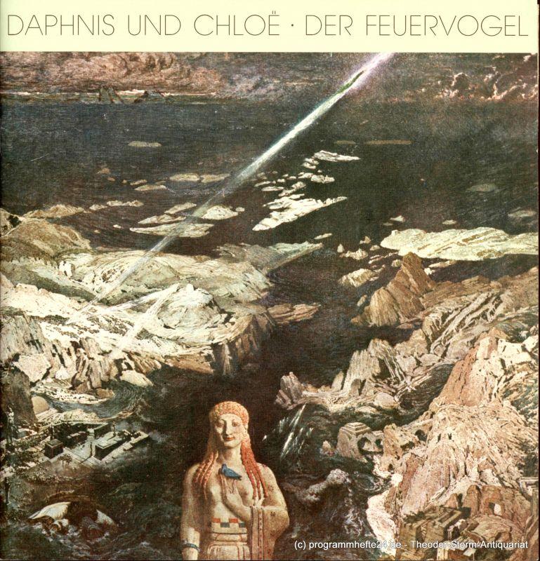 Hamburgische Staatsoper, Willaschek Wolfgang, Cordes Annedore Programmheft zu Daphnis und Chloe von Maurice Ravel und Der Feuervogel von Igor Strawinsky. Premiere am 20. Dezember 1985