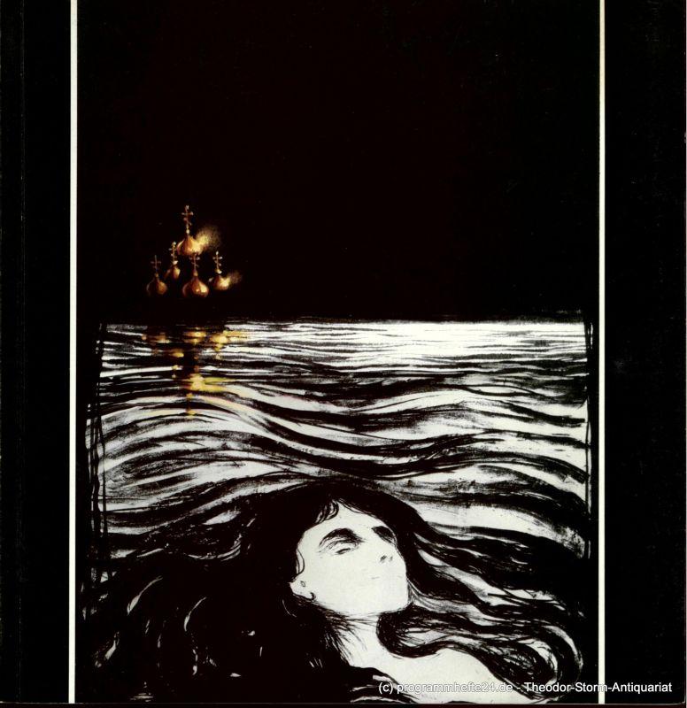 Hamburgische Staatsoper, Huber Vita Programmheft zur Premiere Katja Kabanowa von Leos Janacek am 21. November 1985