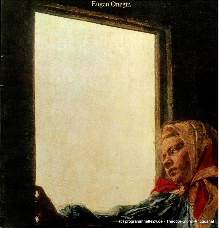 Hamburgische Staatsoper, Dannenberg Peter, Hering Barbara Programmheft Eugen Onegin. Lyrische Szenen in 7 Bildern. 29. Oktober 1979