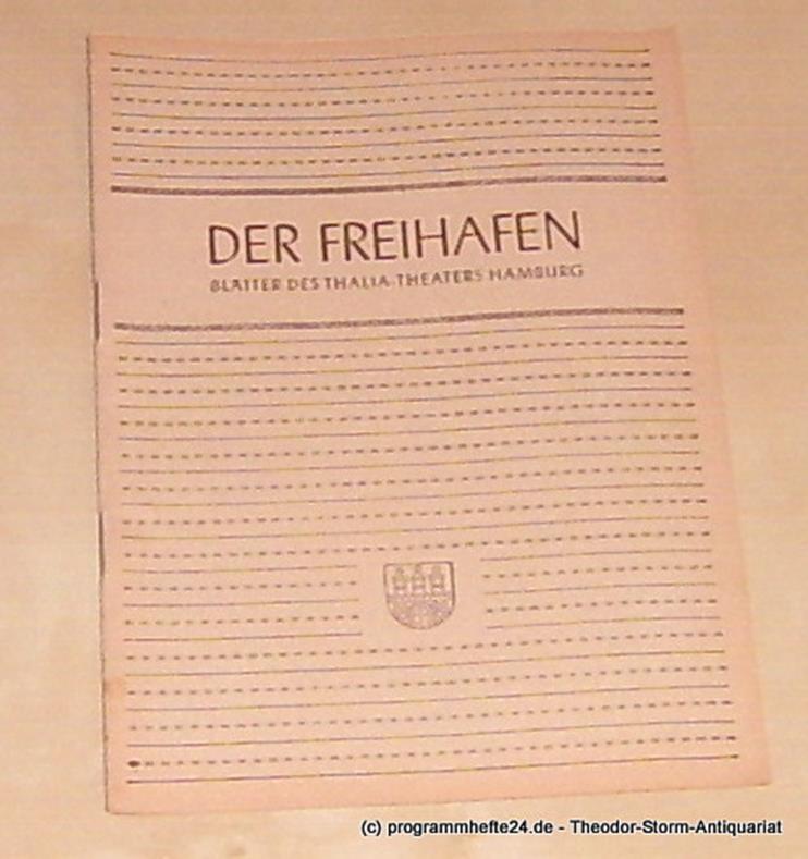 Thalia Theater Hamburg, Maertens Willy Der Freihafen. Blätter des Thalia-Theaters Hamburg Heft 6 Spielzeit 1949-50. Der Fall Winslow ( The Winslow Boy )