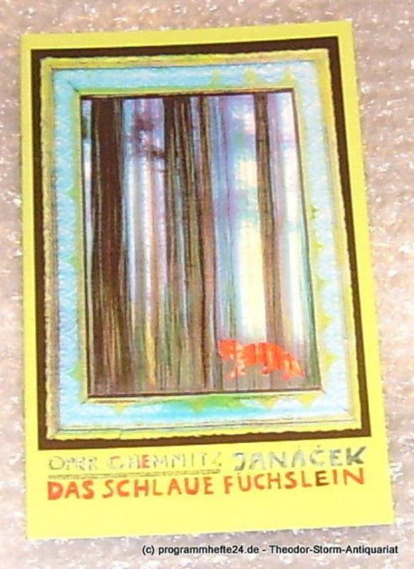 Städtische Theater Chemnitz, Leimert Volkmar Programmheft Das schlaue Füchslein. Oper Chemnitz Spielzeit 2001/2002 Premiere am 22.09.2001