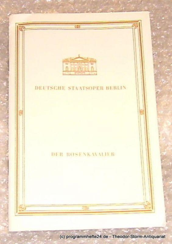 Deutsche Staatsoper Berlin, Streul Eberhard Programmheft Der Rosenkavalier. Deutsche Staatsoper Berlin 9. Februar 1984