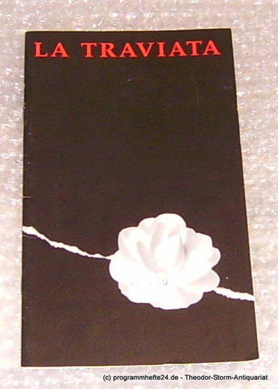 Städtische Theater Chemnitz, Leimert Volkmar Programmheft La Traviata Premiere 18. Dezember 1994