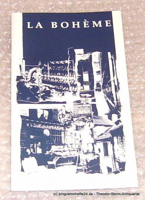 Städtische Theater Chemnitz, Neppl Carla Programmheft La Boheme Premiere 9.November 1996