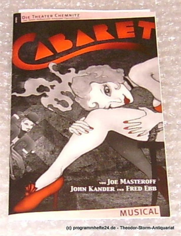 Städtische Theater Chemnitz, Neppl Carla, Korks Josephine Programmheft Cabaret. Premiere 24.01.2004