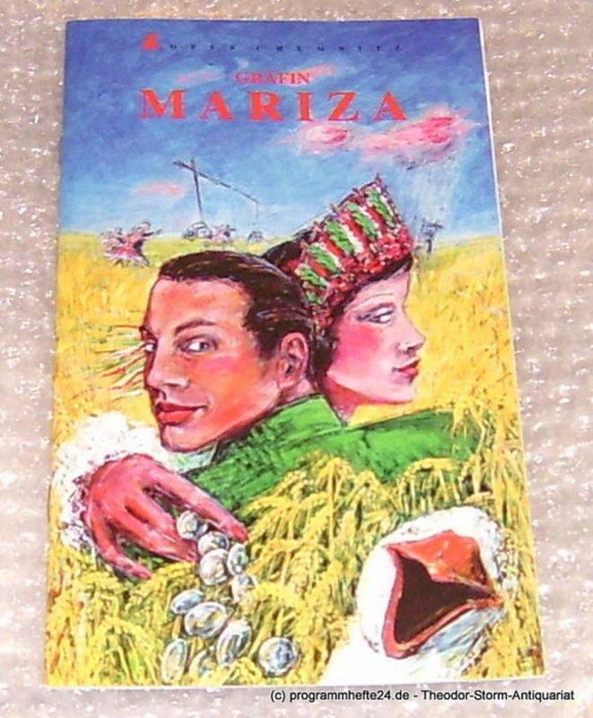 Städtische Theater Chemnitz, Neppl Carla Programmheft Gräfin Mariza. Oper Chemnitz Premiere 8. Februar 1997