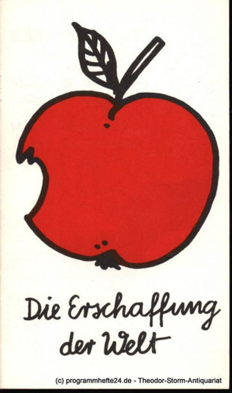 Städtische Theater Karl-Marx-Stadt, Gerhard Meyer, Ziller Gudrun Programmheft Die Erschaffung der Welt. Spieljahr 1982 Opernhaus