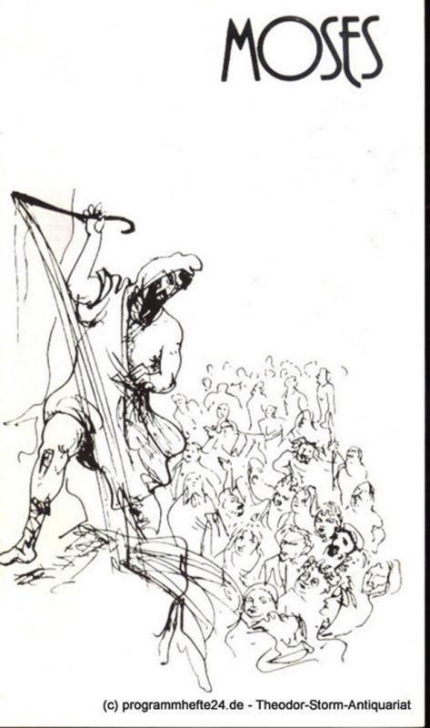 Städtische Theater Karl-Marx-Stadt, Gerhard Meyer, Leimert Volkmar Programmheft Moses. Spieljahr 1982. Opernhaus. Premiere der DDR-Erstaufführung am 27. November 1981