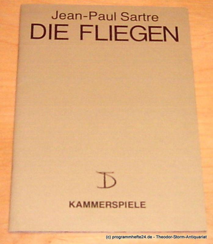 Deutsches Theater und Kammerspiele Berlin, Intendant Thomas Langhoff, Fritz Thomas, Rohloff Heinz Programmheft Jean Paul Sartre Die Fliegen. 112. Spielzeit 1994 / 95