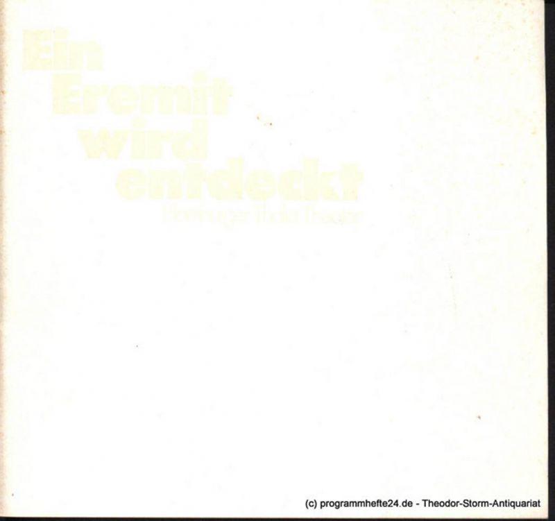 Thalia Theater Hamburg, Boy Gobert, Lunin Hanno Programmheft Ein Eremit wird entdeckt von James Saunders. Spielzeit 1974 / 75 Heft 12