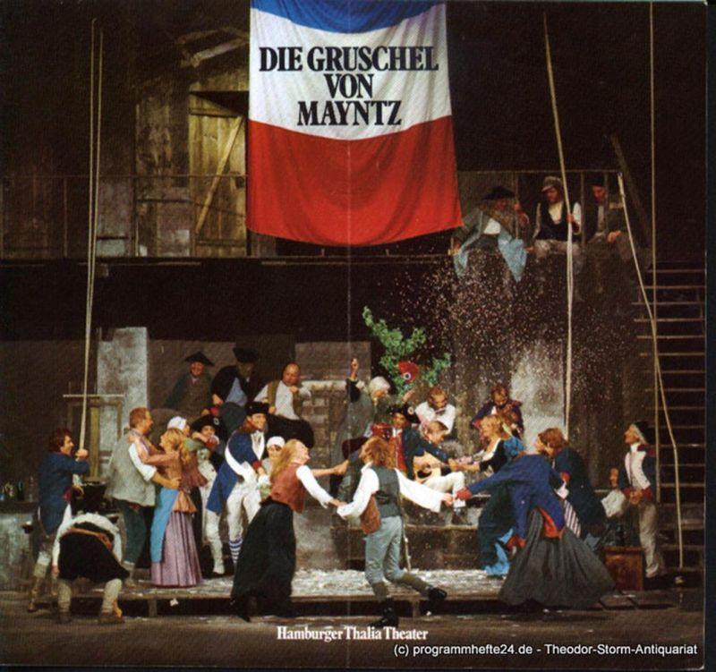 Thalia Theater Hamburg, Boy Gobert, Müller-Buchow Peter Programmheft Uraufführung Die Gruschel von Mayntz von Werner Simon Vogler 27. September 1975. Spielzeit 1975 / 76