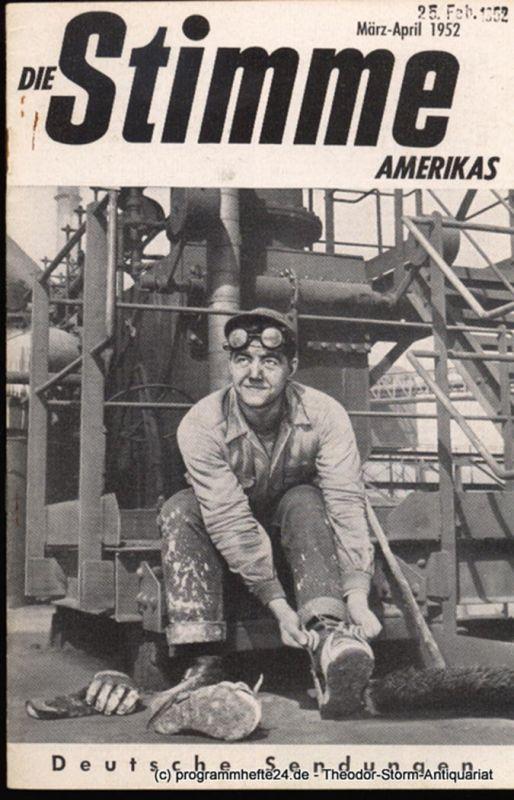 Die Stimme Amerikas Programmheft Die Stimme Amerikas. Deutsche Sendungen Januar-Februar 1953