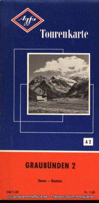 Agfa Aktiengesellschaft für Photofabrikation Agfa Tourenkarte A 2 Davos - Klosters