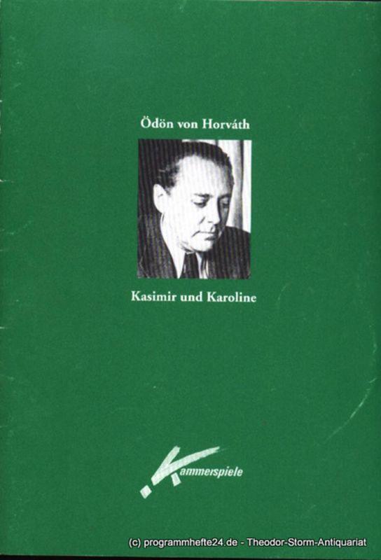 Westfälische Kammerspiele Paderborn, Dr. Merula Steinhardt-Unseld, Schönthaler Gaby Programmheft Kasimir und Karoline von Ödön von Horvath. Premiere 12. Februar 1999. Spielzeit 1998 / 99
