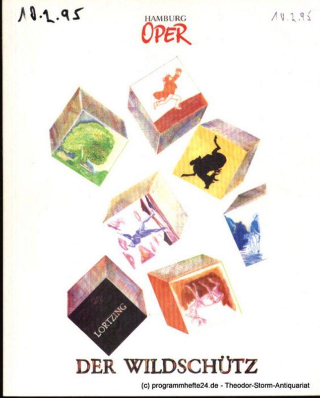 Hamburgische Staatsoper, Cordes Annedore Programmheft zur Premiere Der Wildschütz am 5. Dezember 1993