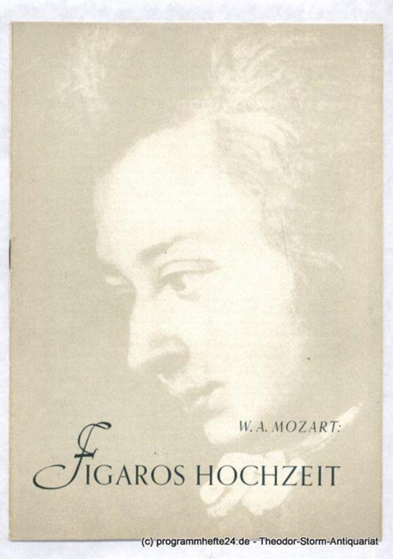 Bühnen des Landes Sachsen, Landesoper, Herzog H.K. Programmheft Figaros Hochzeit. Heitere Oper von Wolfgang Amadeus Mozart