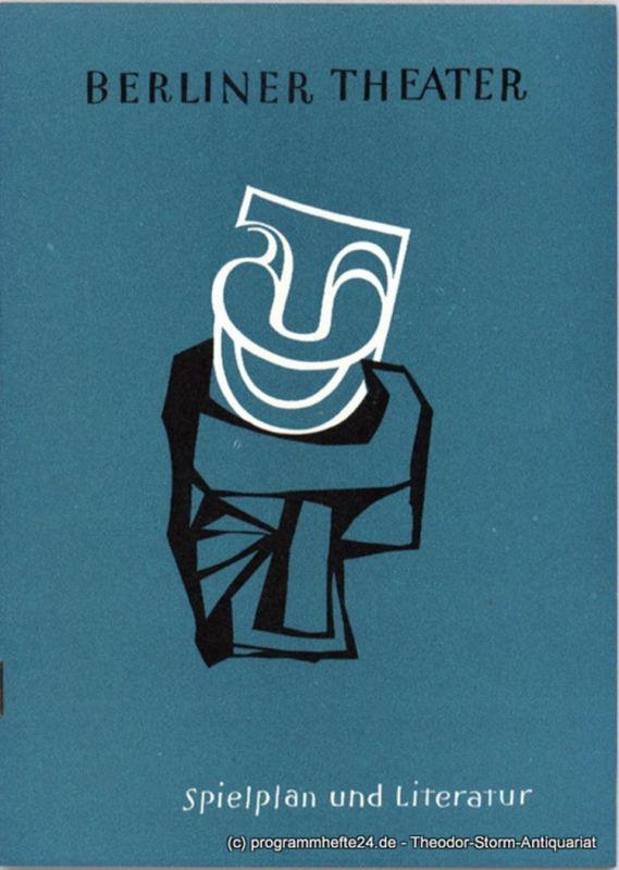 Senator für Volksbildung, Urban Dora, Lehmann Lothar Berliner Theater. Ein Literaturnachweis der Berliner Stadtbüchereien zum Spielplan der Westberliner Bühnen 1960 / 61