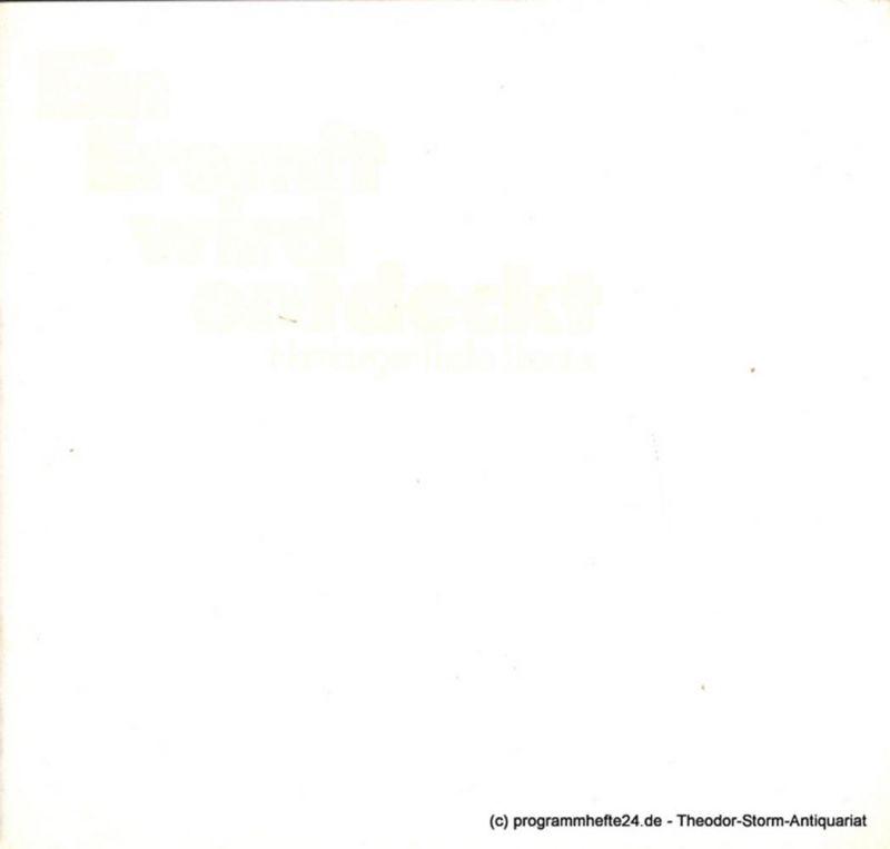 Thalia Theater Hamburg, Boy Gobert, Matthies Holger, Lunin Hanno Programmheft Ein Eremit wird entdeckt von James Saunders. Premiere 8. März 1975. Spielzeit 1974 / 75 Heft 12