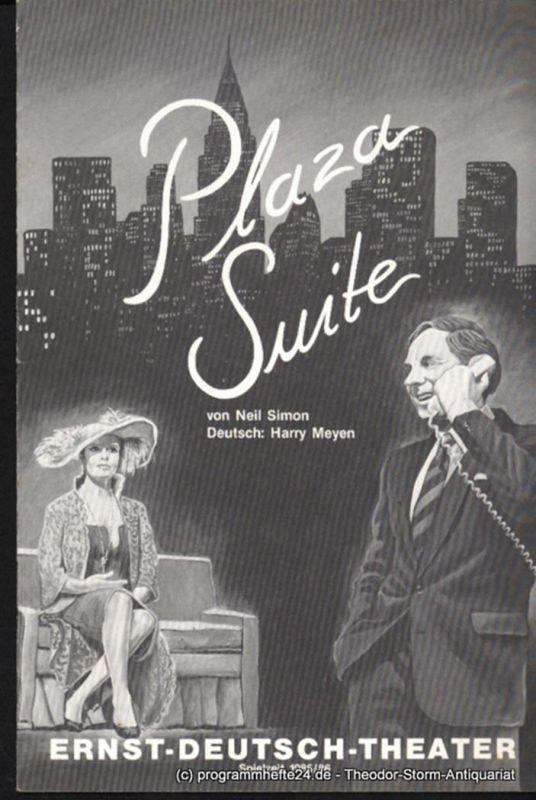 Ernst Deutsch Theater, Friedrich Schütter, Wolfgang Borchert Programmheft Plaza Suite von Neil Simon. Premiere 16. Januar 1986. Spielzeit 1985 / 86