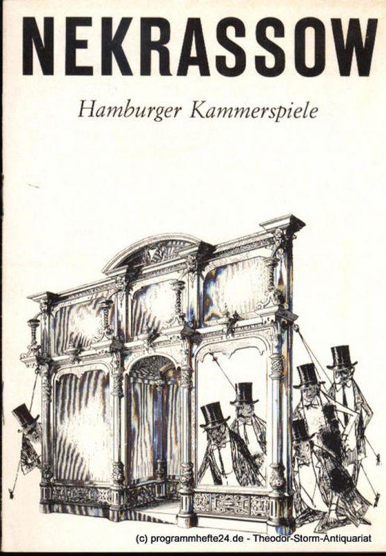 Hamburger Kammerspiele, Höger Ilse Programmheft Nekrassow. Satire von Jean-Paul Sartre. Blätter der Hamburger Kammerspiele 2. Heft der Spielzeit 1965 / 66