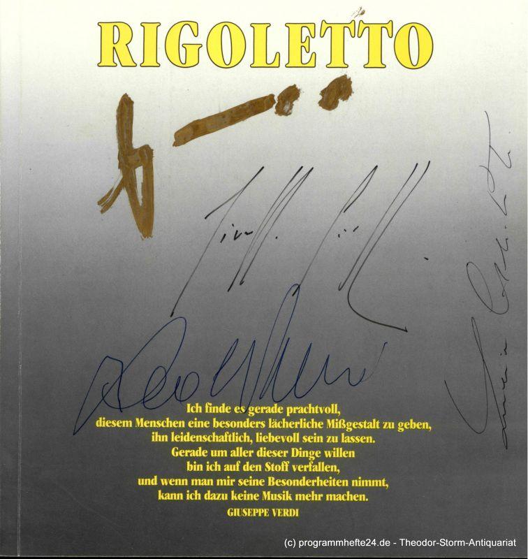 Hamburgische Staatsoper, Peter Dannenberg Programmheft zur Premiere des Rigoletto am 20. Dezember 1986 4 - FACH SIGNIERT