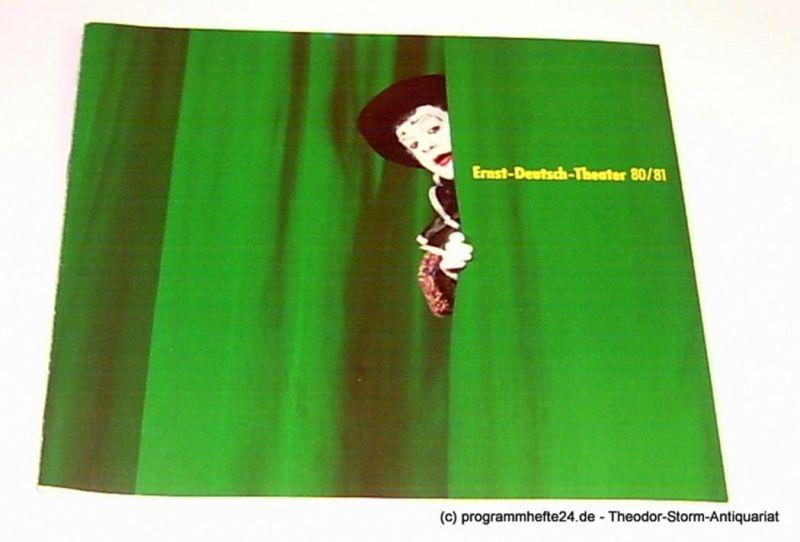 Ernst-Deutsch-Theater, Friedrich Schütter, Wolfgang Borchert, Henry-E. Simmon, Hans-Peter Kurr Programmheft Ernst-Deutsch-Theater 80 / 81
