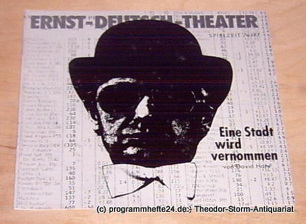 Ernst-Deutsch-Theater, Friedrich Schütter, Wolfgang Borchert Programmheft Eine Stadt wird vernommen. ( Knuckle ). Psycho-Thriller von David Hare. Premiere 13. Januar 1977. Spielzeit 1976 / 77