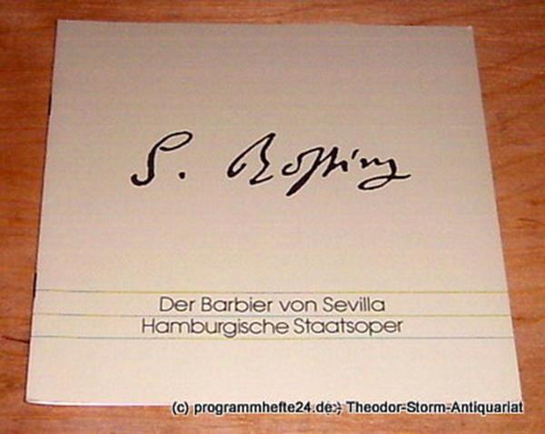 Hamburgische Staatsoper, Peter Ruzicka Programmheft Der Barbier von Sevilla. Komische Oper von Cesare Sterbini. Montag 19. September 1994