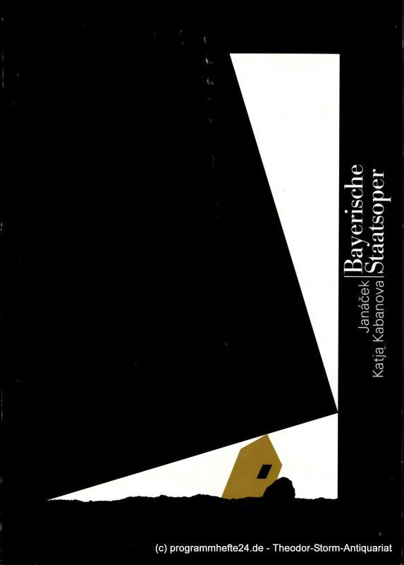 Bayerische Staatsoper, Staatsintendant Peter Jonas, Hanspeter Krellmann Programmbuch zur Premiere Katja Kabanova von Leos Janacek am 5. März 1999 im Nationaltheater München. Programmheft Spielzeit 1998 / 99